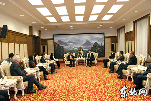 Meeting the Vice Governor of Heilongjiang Province